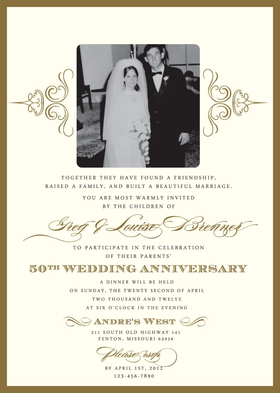 40th Wedding Anniversary Invitations Ru Anniversary
