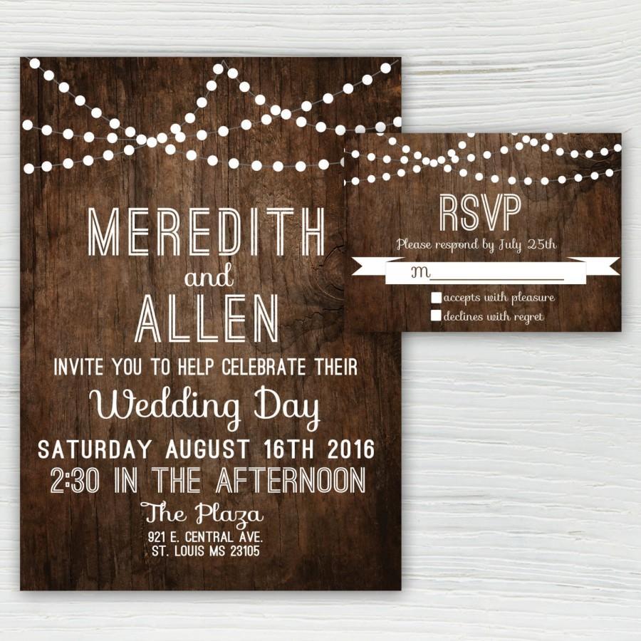 Country Themed Wedding.Country Themed Wedding Invitations Rustic Wood Wedding Invitation