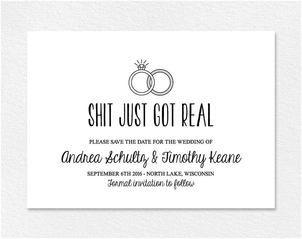 Cute Wedding Invitation Wording Quotes Funny Wedding Invitation