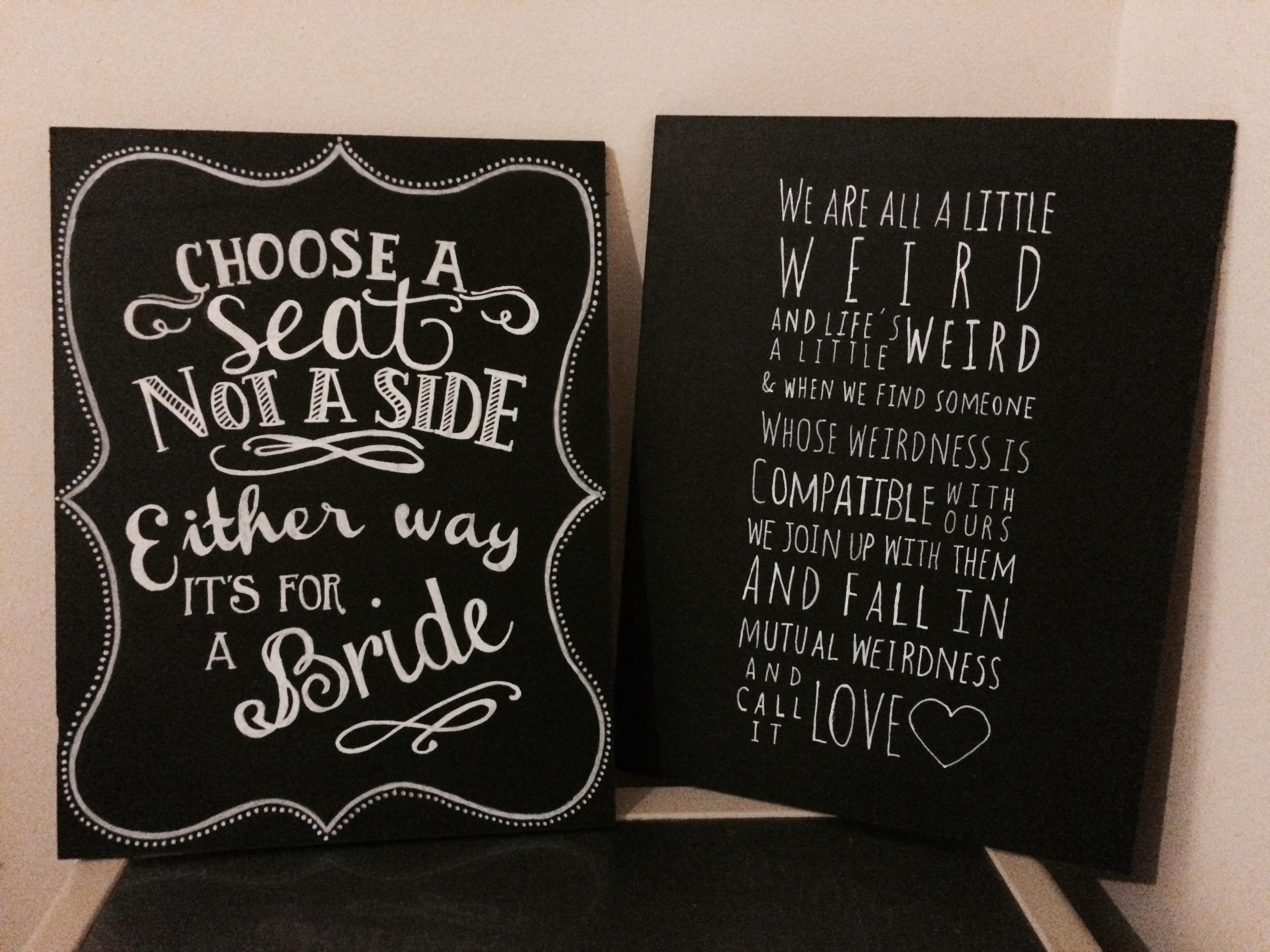 Diy Wedding Signs Diy Wedding Crafts Chalkboard Signs Diy