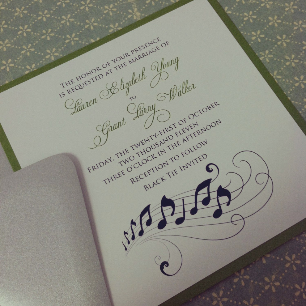 Music Themed Wedding Invitations Images Of Music Themed Wedding