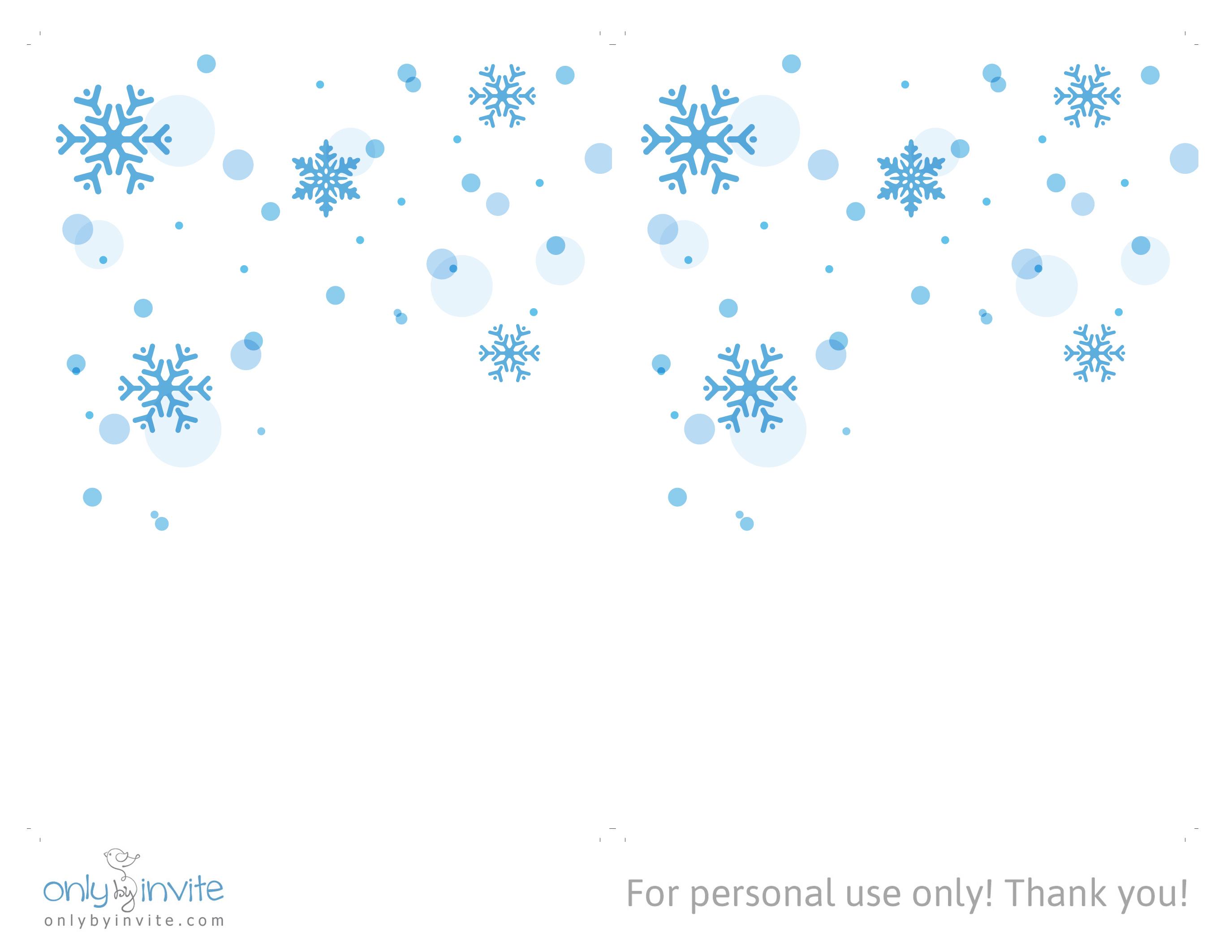 Snowflake Invite Template Enom
