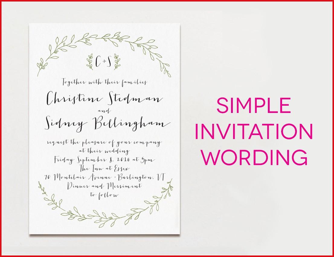 Wedding Invitation Example Wedding Invitation Wording Examples 2018