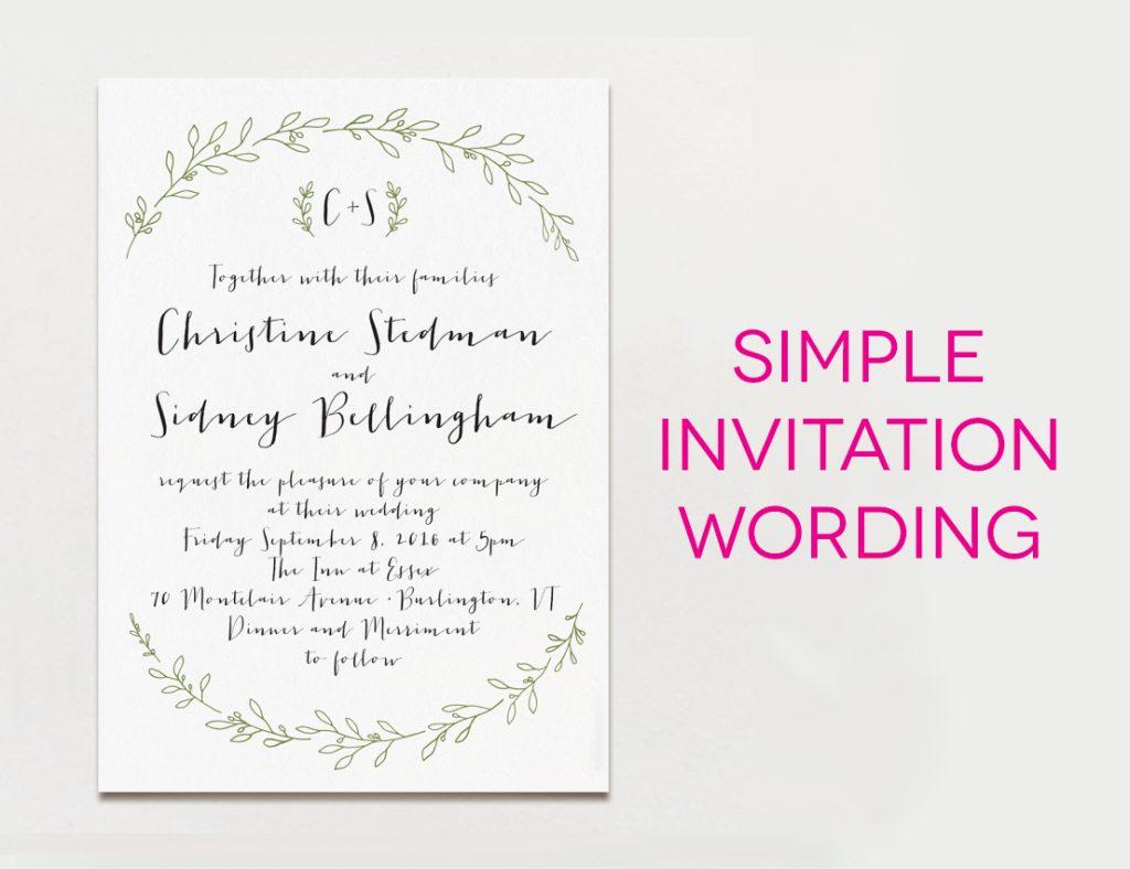 Wedding Invitations Wording Samples Wedding Ideas Wedding Invitation